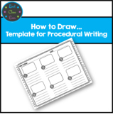 Procedural Writing: How to Draw Template / Graphic Organizer