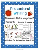 Procedural Writing: Make a Pizza in French en Français