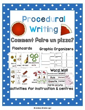 Procedural Writing: Make a Pizza in French en Français