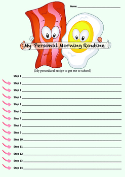 Procedural Writing - Morning Routine