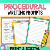 Procedural Writing Prompts (Distance Learning)
