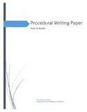 Procedural Writing Paper