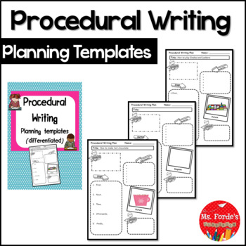 Procedural Writing Planning Templates