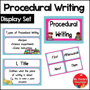 Procedural Writing Poster Set