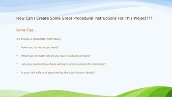 Procedural Writing Project For Middle School - Learn a Fun