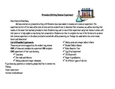 Procedural Writing- Science Experiment With Rubric