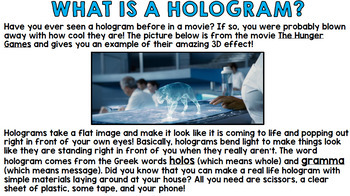 Procedural Writing: Step by Step How to Make a Hologram With Your Cell Phone