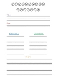 Procedural Writing Template