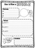 Procedural Writing Template - How to Blow a Bubble FREEBIE