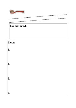 procedural writing template Procedural Writing Template Lower Primary by Snarly Frills | TpT