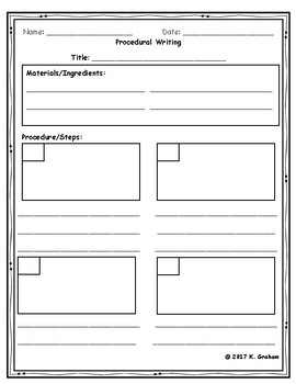 procedural writing template with editing checklist by kristina graham