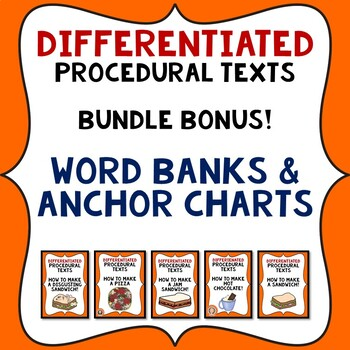 Procedural Writing Templates Bundle: 5 How To packets with anchor charts & word
