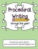 Procedural Writing Through the Year