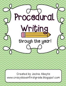 Procedural Writing Through the Year
