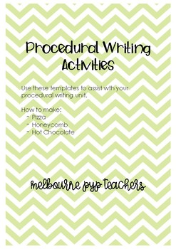 Procedural Writing Unit Templates