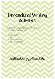 Procedural Writing Unit Templates