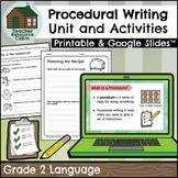 Procedural Writing Workbook | NO PREP (Grade 2 ONTARIO Writing)