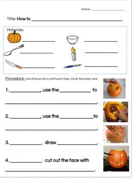 Procedural writing: Halloween