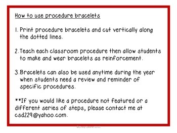 Procedure Bracelets