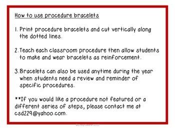 Procedure Bracelets (with SymbolStix)