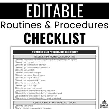 Procedure Checklist   EDITABLE