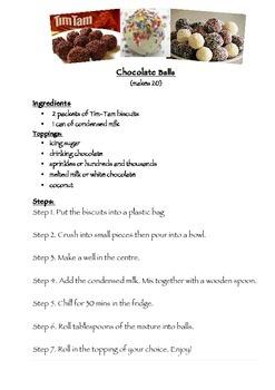 Procedure- Chocolate Tim Tam Balls Recipe
