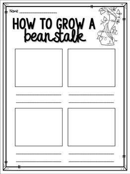 Beanstalk Procedure - How to grow a beanstalk writing template