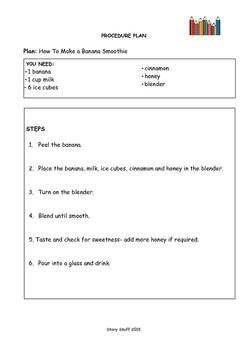 Procedure Plan - Recipe Smoothie