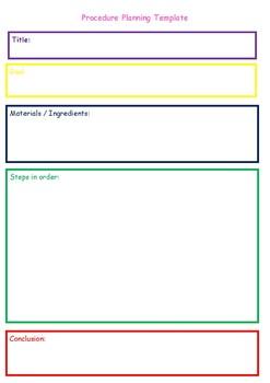 Procedure Planning Template