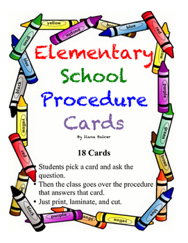 Procedure Question Cards