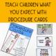 Procedure & Routine Cards for Preschool, Pre-k and Kindergarten
