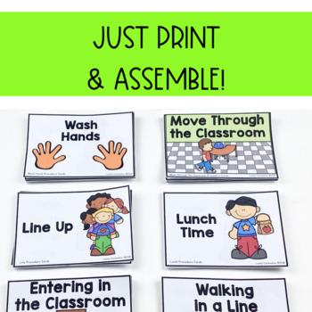 Classroom Procedure & Routine Visuals for Preschool, Pre-k and Kindergarten