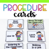 Procedure & Routine Cards for Preschool, Pre-k and Kindergarten