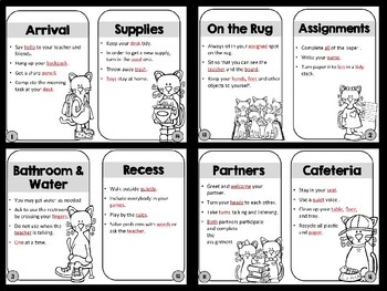Procedure & Routines for the First Week of School - Editable