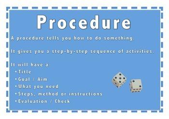 Procedure Text Type Poster