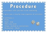 Procedure Text Type Poster