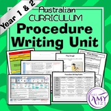 Procedure Unit -Year 1 and 2- Aligned with Australian Curriculum