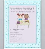 Procedure Writing #1 - Grades 2, 3, and 4 English Language Arts
