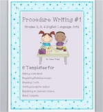 Procedure Writing #1 - Grades 2, 3, and 4 English Language Arts