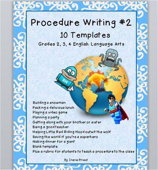 Procedure Writing #2 - Grades 2, 3, and 4 English Language Arts