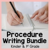 Procedure Writing Bundle Kindergarten and First Grade