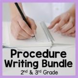Procedure Writing Bundle Second and Third Grade