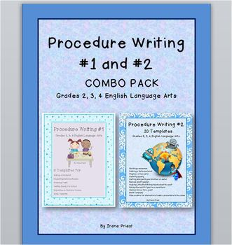 Procedure Writing COMBO PACK - Grades 2, 3, and 4 English Language Arts