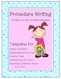 Procedure Writing - Grades 2, 3, and 4 French Immersion