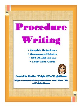 Procedure Writing Graphic Organizers and Rubrics (with ESL Modifications)