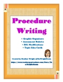 Procedure Writing Graphic Organizers and Rubrics (with ESL