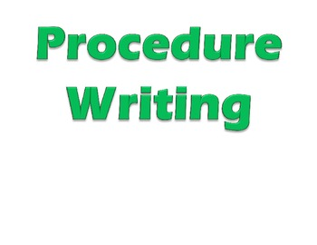 Procedure Writing Headings