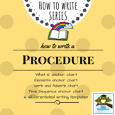Procedure Writing Pack {4 anchor charts, 6 differentiated templates}
