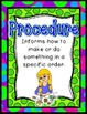 Procedure Writing Pack {4 anchor charts, 6 differentiated