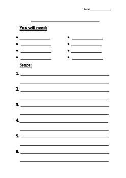 Procedure Writing Template